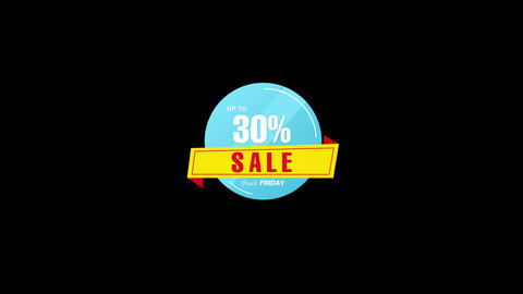 30% Percent Sales Discount Banner Animation with QuickTime / Alpha Channel / Prores 4444 애니메이션