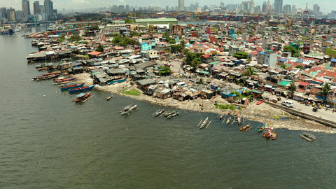 The city of Manila, the capital of the Philippines Live Action