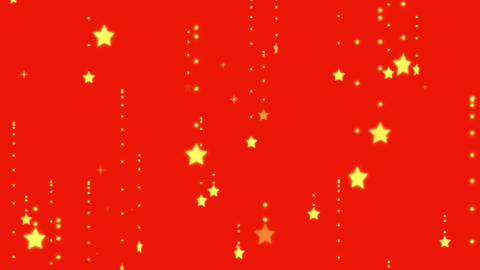 Yellow stars on red background Videos animados