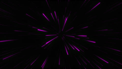 Abstract glow neon lines and stripes. Neon pink purple particles animation Live Action