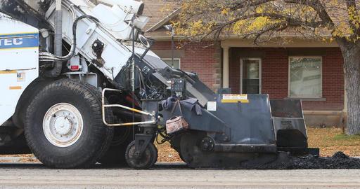 Asphalt heavy industrial equipment road repair 2 DCI 4K 785 Footage