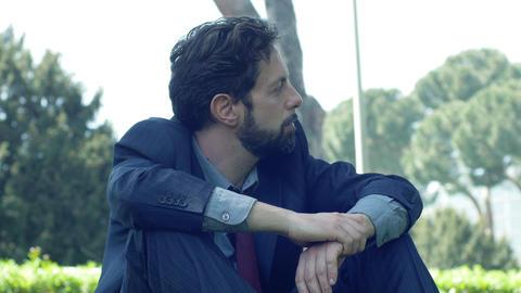 sad and depressed businessman: worried businessman Footage