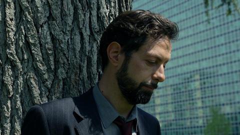sad businessman out is office: troubled businessman Live Action