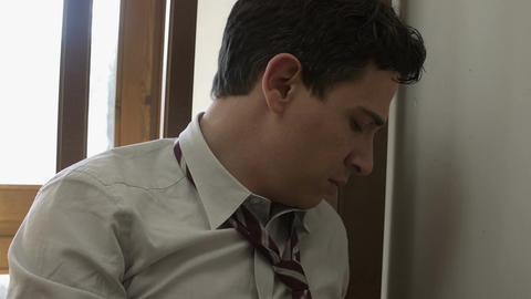 pensive and sad businessman Footage