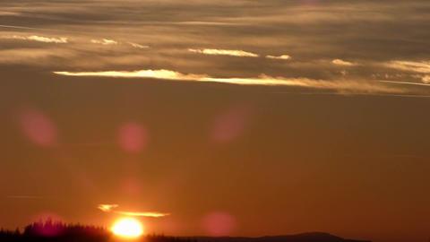 Evening sky sunset timelapse Footage