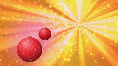 Christmas balls generated seamless loop video Animation