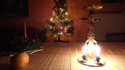 Christmas candle tree chimes Footage