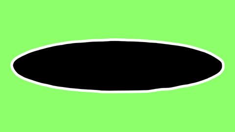 手描きの細い楕円のフレーム5 Handdrawn frame round short5 CG動画