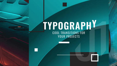 Typography Transitions After Effects Template