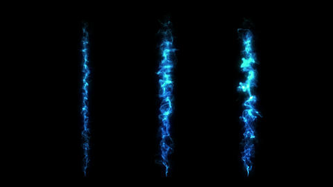 Set of realistic fire or flame animation. Blue fire collection. Burning. Flare or glow. Energy Animation