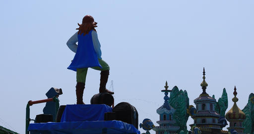 A big monument at Suoi Tien park in Ho Chi Minh Vietnam Live Action