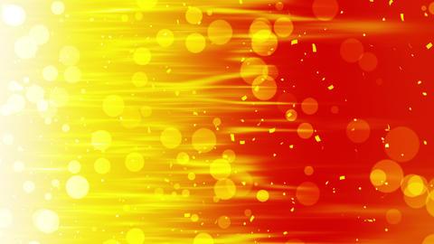 Falling shiny golden confetti. Bright festive tinsel of gold color. Bokeh lights on color 애니메이션