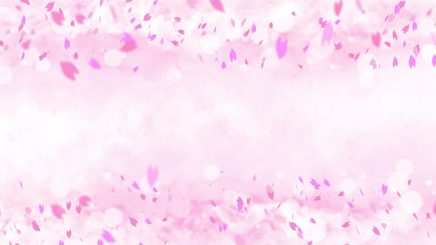 Colorful bright petals swinging in spring background with sun flares. Beautiful nature scene. Animation