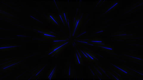 Abstract glow neon lines and stripes. Neon blue particles animation. Retro Live Action