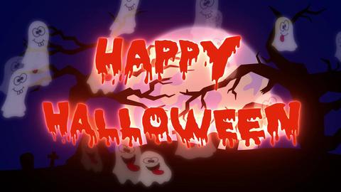 Happy Halloween Ghosts - 05 sec Animation