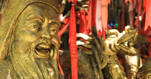 A Guardian statue at Suoi Tien park in Ho Chi Minh Vietnam focusing Live Action
