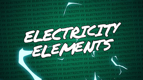 MOGRT - Electricity Elements Motion Graphics Template