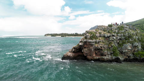 Maconde view point, Baie du Cap, Mauritius island, Africa. Aerial view from Live Action