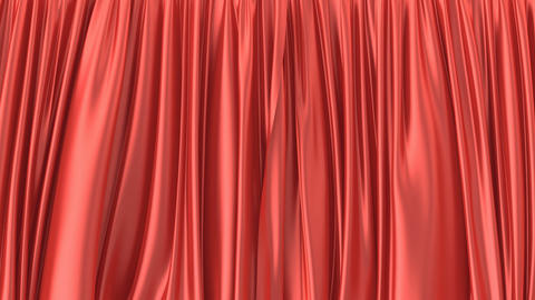 3D animation of the red window curtain, alpha matte is included Animation