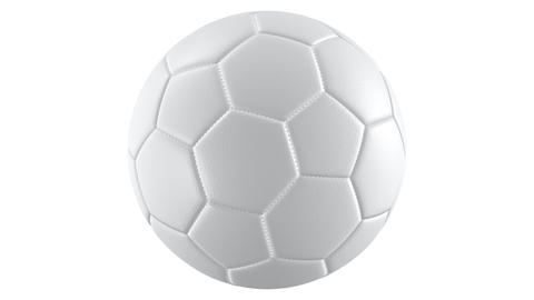 Looping realistic UHD animation of the spinning white textured soccer ball, alpha matte is included Animation
