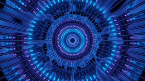 Mysterious Blue Light in Dark Shaft Motion 4k uhd 3d rendering vj loop Animation