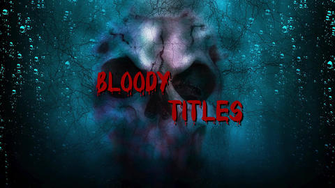 Bloody Titles Motion Graphics Template