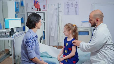 Little girl having consultation-hour Live Action
