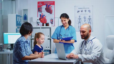 Doctor asking nurse for pills Live Action