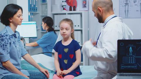 Little girl having medical check up Live Action