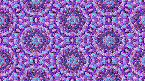 Glass mosaic kaleidoscopic generated seamless loop video Animation