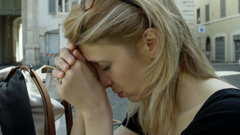 sad and pensive young woman portrait: depressed young woman Live Action