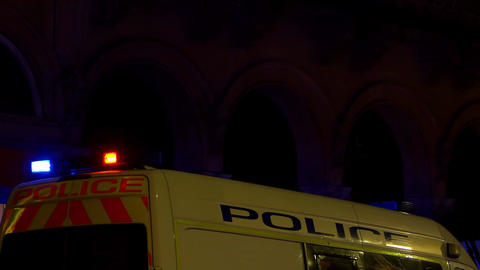 police flashing lights in the night Footage