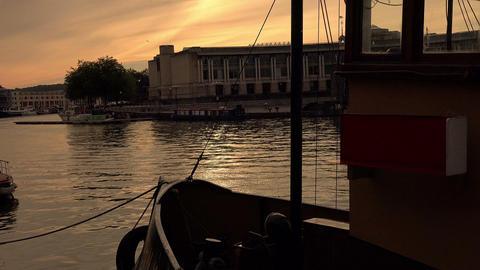 Harbor At Sunset in Bristol, UK Footage