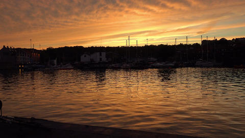 sunset on the harbor on the avon river in bristol Footage