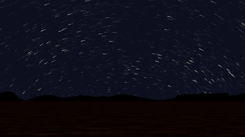 Night landscape time lapse seamless loop Animation