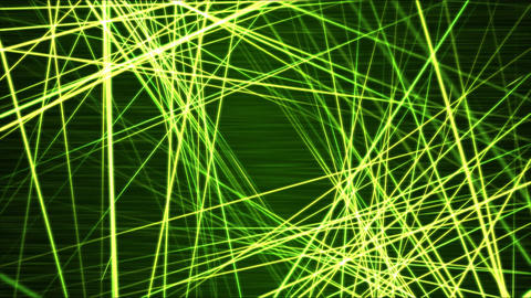 Moving through Light/Laser Beams Animation Animation - Loop Green Animation