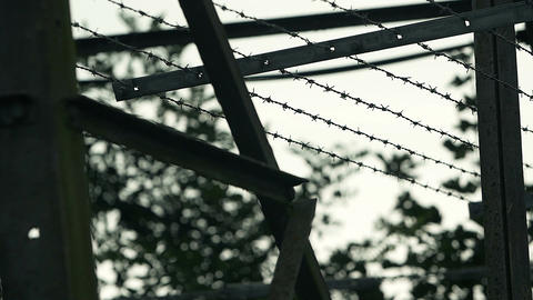 prison, barbed wire, freedom beyond Footage