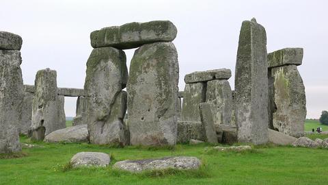 StoneHenge England Tourism Monolith Stones Footage