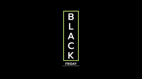 Animation intro text Black Friday on black fashion and minimalism background Animation
