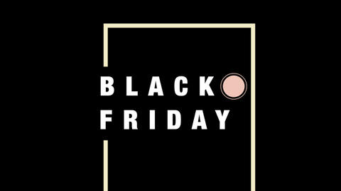 Animation intro text Black Friday on fashion and minimalism background with geometric lines Animation