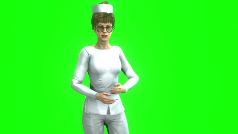 946 HD MEDICINE 3D animated woman doctor expains about medical problem Animation