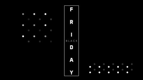 Animation intro text Black Friday on black fashion and minimalism background with geometric lines Animation