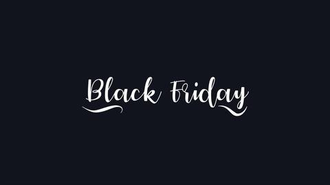 Animation intro text Black Friday on black fashion and minimalism background CG動画