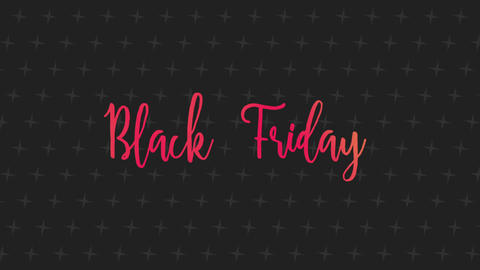 Animation intro text Black Friday on fashion and minimalism background Animation