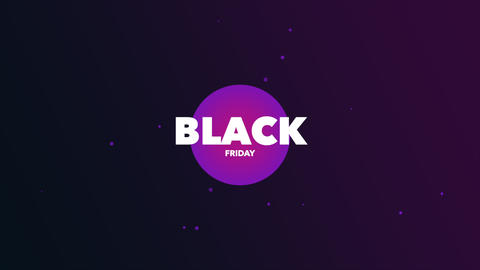 Animation intro text Black Friday on purple fashion and minimalism background Animation