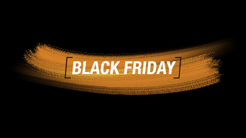 Animation intro text Black Friday on yellow fashion and brush background Animation