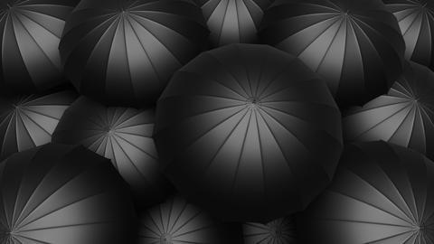 Black umbrellas seamless looping UHD 3D animation Animation