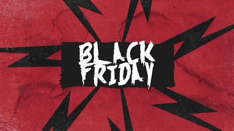 Animation intro text Black Friday on red hipster and grunge background CG動画