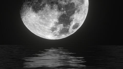 UHD combination of the live footage and 3D animation of a moon waterscape Animation