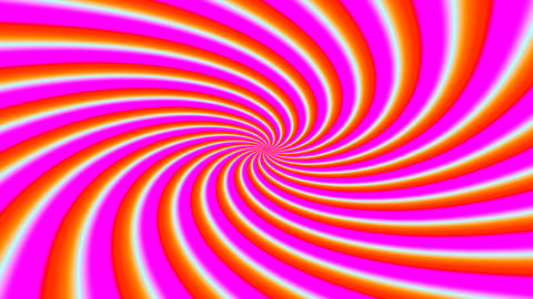 Hypnotic abstract colorful blades turning in spirals around the middle point in loop Acción en vivo